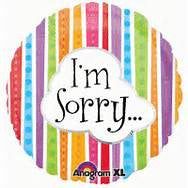 "18"" IM SORRY COLORFUL LINES FOIL BALLOON (348)"