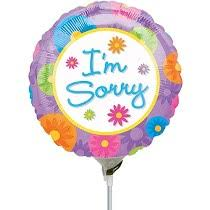 I'M SORRY COLORFUL FLOWERS FOIL BALLOON (392)