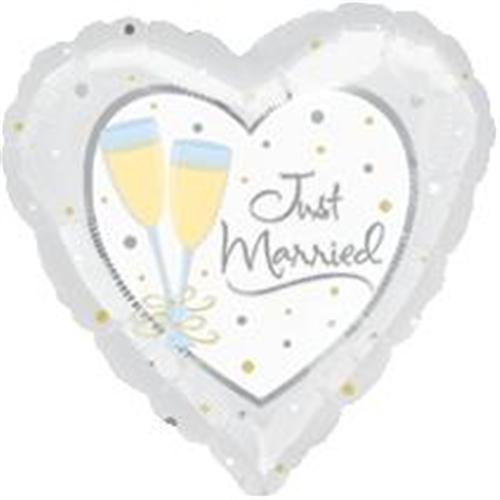 "18"" JUST MARRIED FOIL BALLOON (592)"