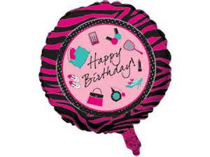 "18"" METALLIC BALLOON PINK ZEBRA BOUTIQUE (335)"