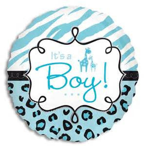 "18"" SAFARI BABY BOY FOIL BALLOON (177)"