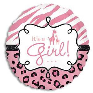 "18"" SAFARI BABY GIRL FOIL BALLOON (162)"