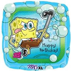 "18"" SPONGEBOB KICKN BDAY SHAPE FOIL BALLOON (367)"