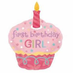 "36"" SWEET LITTLE CUPCAKE GIRL FIRST BIRTHDAY FOIL BALLOON (170)"