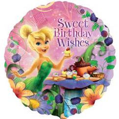 "18"" TINKERBELL HBDAY WISHES FOIL BALLOON (386)"