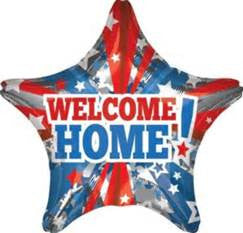 "32"" WELCOME HOME PATRIOTIC STAR FOIL BALLOON (258)"