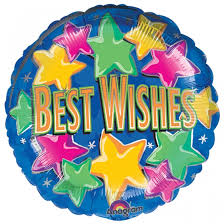 "18"" BEST WISHES FOIL BALLOON (293)"