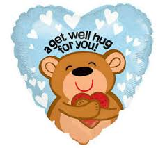"Copy of 18"" A GET WELL HUG FOR YOU BALLOON FOIL BALLOON (399)"