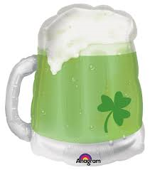 "33"" GREEN BEER MUG FOIL BALLOON"