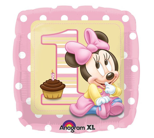 "18"" MINNIE 1ST BDAY GIRL FOIL BALLOON (111)"