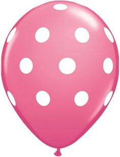 "11"" BIG POLKA DOTS PRINTED LATEX"