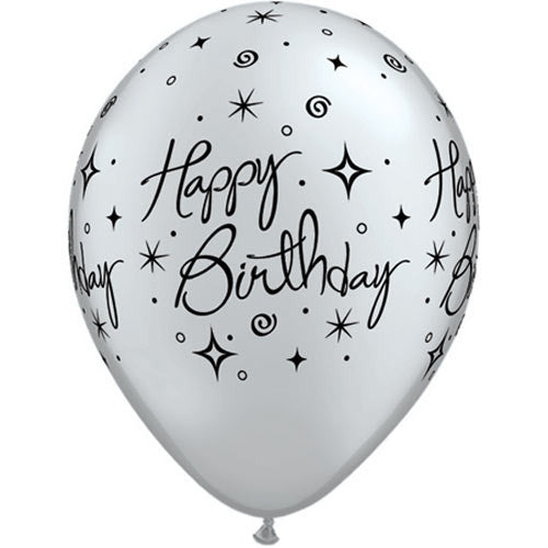 "11"" HAPPY BIRTHDAY PRINTED LATEX"