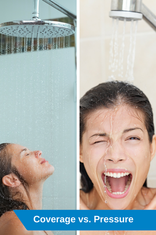 Wide Coverage vs High Pressure Rainfall Shower Heads