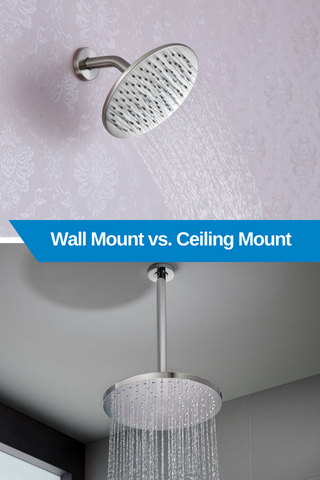Wall Mount vs Ceiling Mount Rain Shower Head