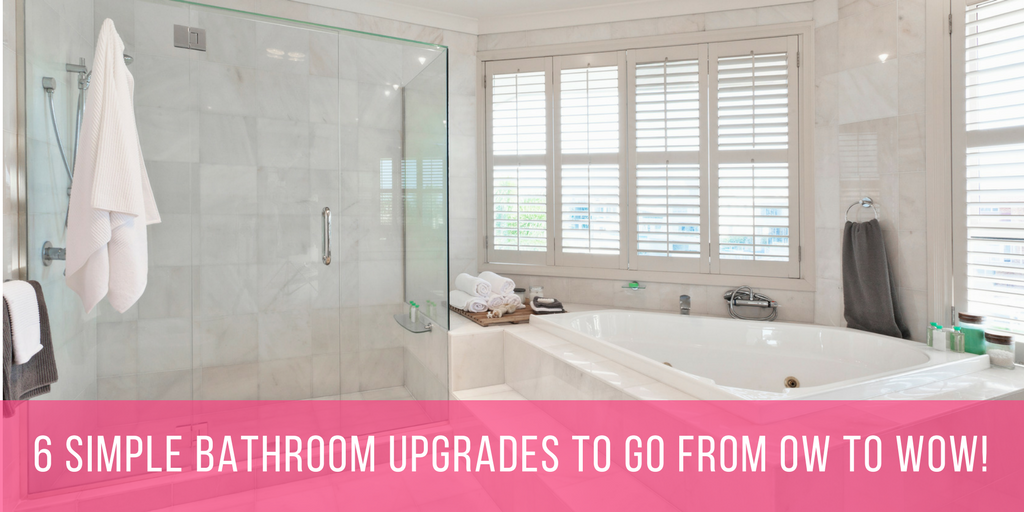 Interior Bathroom Upgrades 6 simple bathroom upgrades to go from ow wow the shower head wow