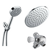 All Metal Dual Shower Head Combo with Rain And Hand Held Showerheads