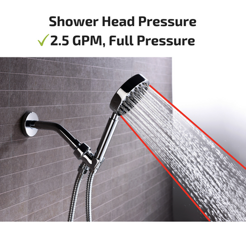 Best Shower Head with Hose and 2.5 Gallon Per Minute GPM High Pressure Flow Rate