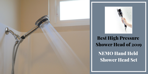NEMO Best High Pressure Shower Head with Hose Set Hand Held Showerhead