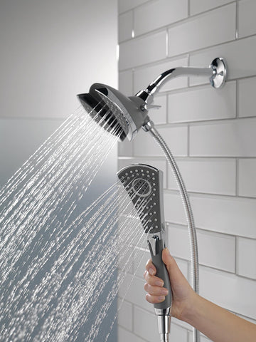 Best Delta In2ition Hand Held Shower Head with Metal Hose