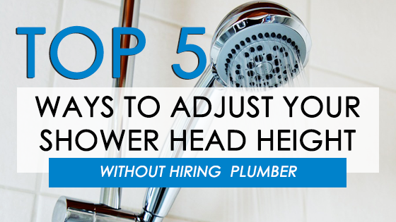 Adjustable Shower Head Height