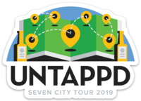 2019 Seven City Tour Sticker