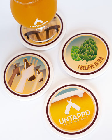 Untappd Badges Stone Coaster Set