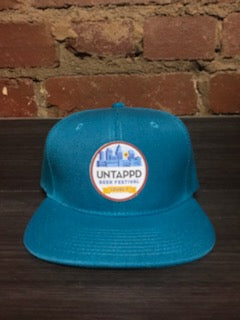 Turquoise Untappd Beer Festival Badge Snapback Hat