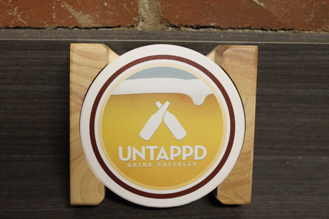 "Untappd ""Classics"" Badges Stone Coaster Set"