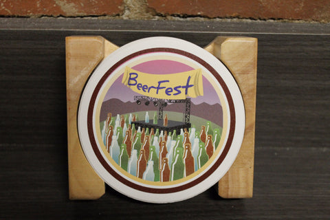 "Untappd ""Venue - Volume 1"" Badges Stone Coaster Set"