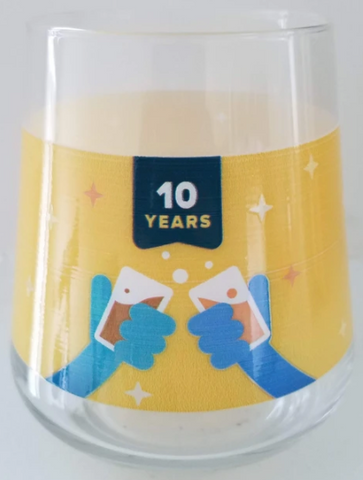 10th Anniversary Glass