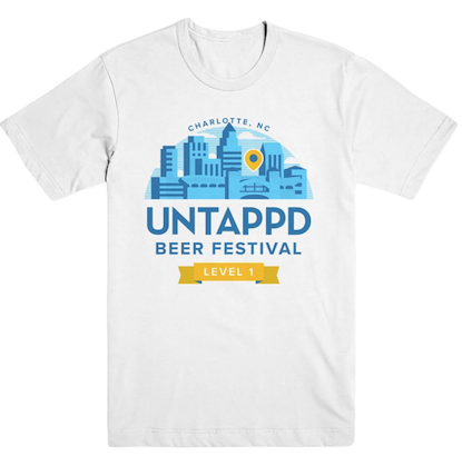 White Untappd Beer Festival Shirt