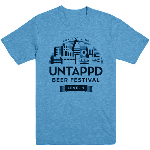 Turquoise Untappd Beer Festival Shirt