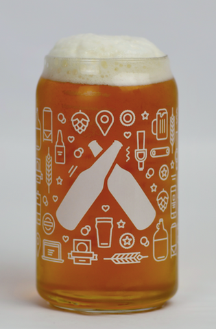 Untappd Anatomy Can Glass - 4 Pack