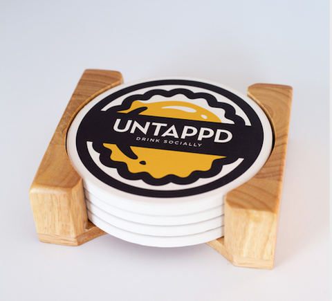 Untappd Drink Socially Stone Coaster Set