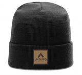 Untappd Leather Badge Beanie