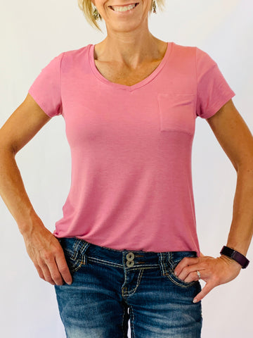 Desert Pink V-Neck Top