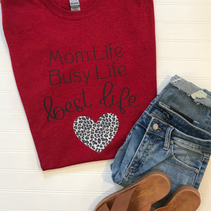 Mom Life Cheetah Graphic Tee