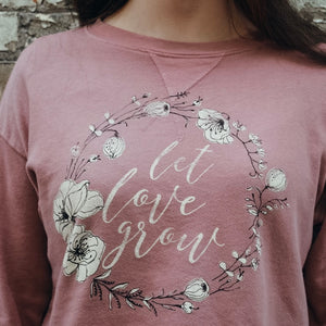 Let Love Grow Long Sleeve Crop Sweatshirt