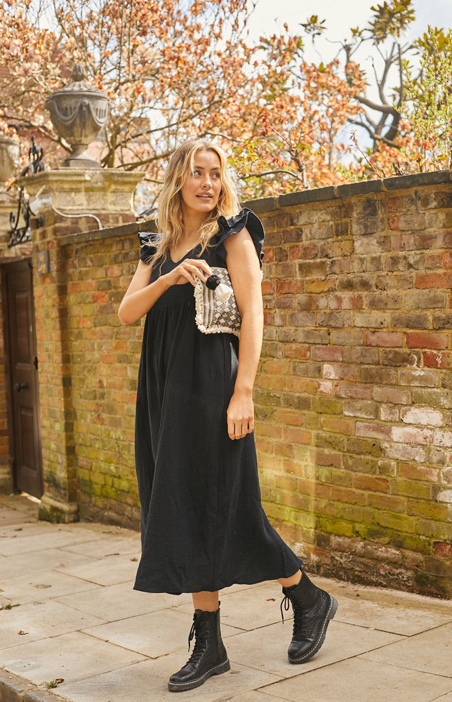 Load image into Gallery viewer, Celine Black Maxi Dress