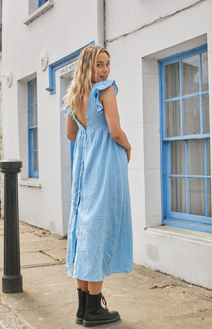 Load image into Gallery viewer, Celine Blue Maxi Dress