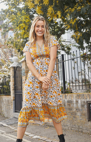 Load image into Gallery viewer, Layla Yellow Maxi Dress
