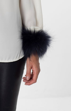 Load image into Gallery viewer, Emily Fur Cuff Navy