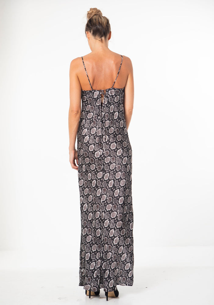 Marina Dress in Silver Python