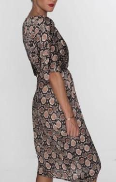 Stefie Dress in Bronze Python