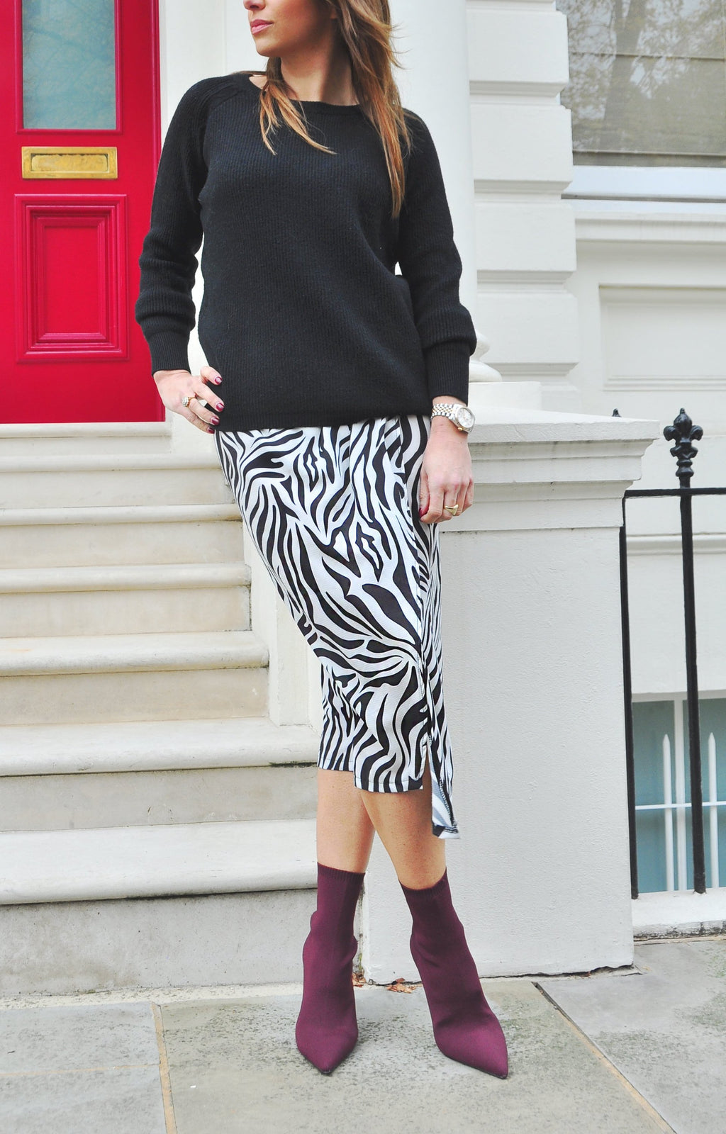 ZAZA SKIRT in Zebra
