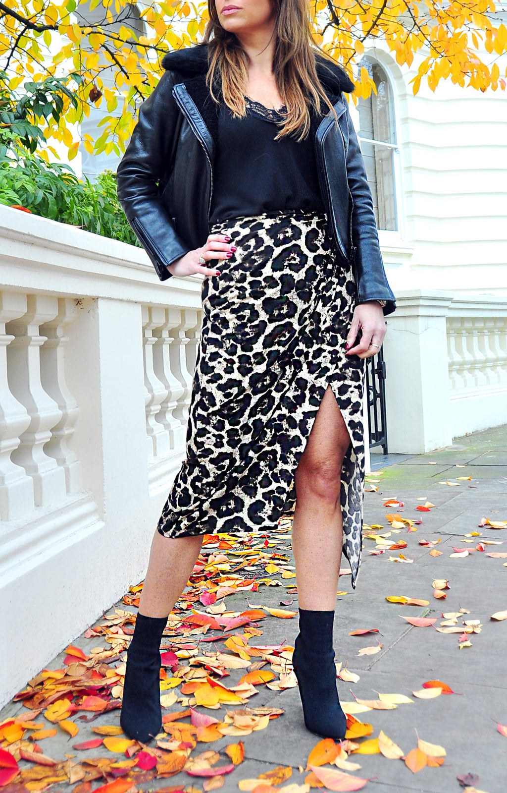ZAZA SKIRT in Winter Leopard