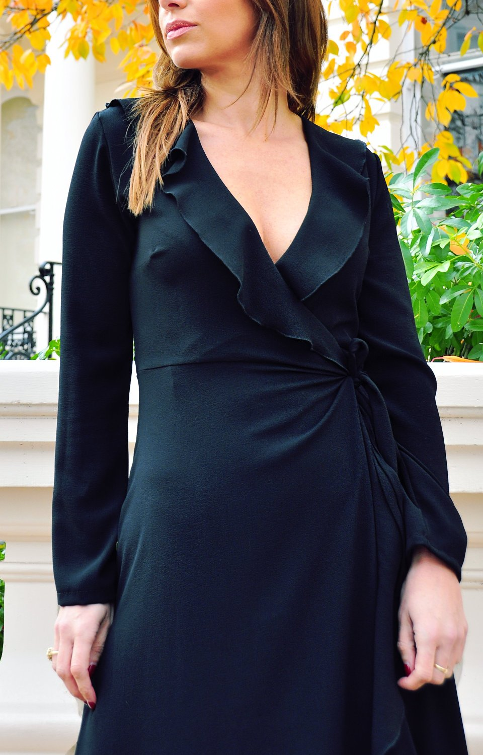 Twilight Black Wrap Dress