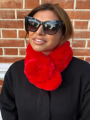 Load image into Gallery viewer, EVA Faux Fur red