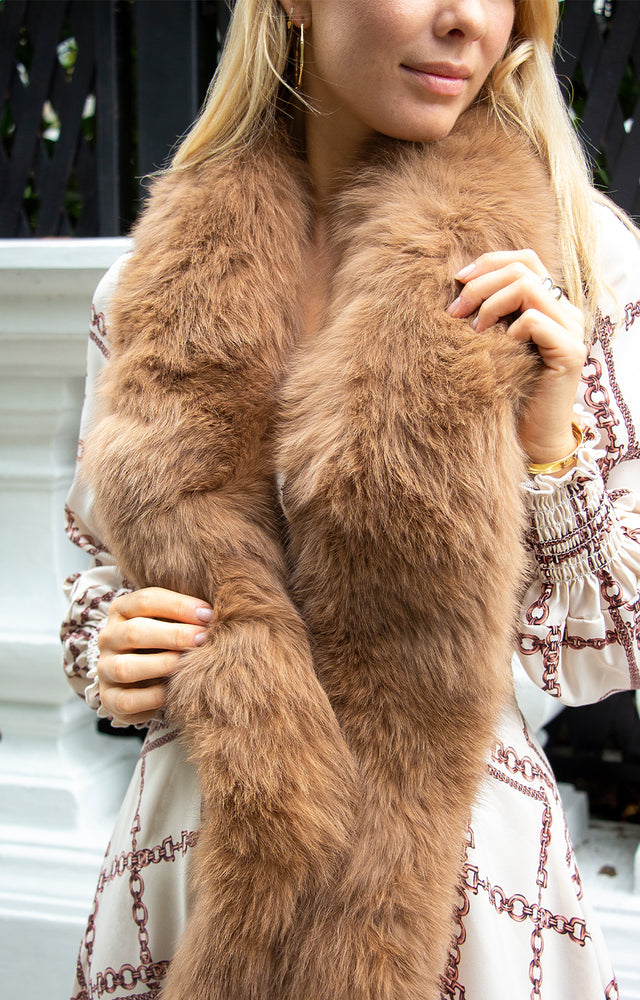 Load image into Gallery viewer, Dame Fur Collar in Camel