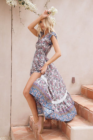 Load image into Gallery viewer, JA Clemence Print Romi Maxi Dress